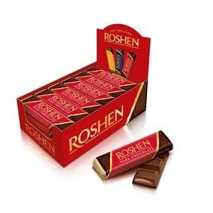 Baton Brandy Dark Chocolate Roshen 30x43g