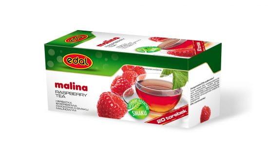 Herbatka owocowa Malina Ekspresowa 20 torebek malinowa Edal