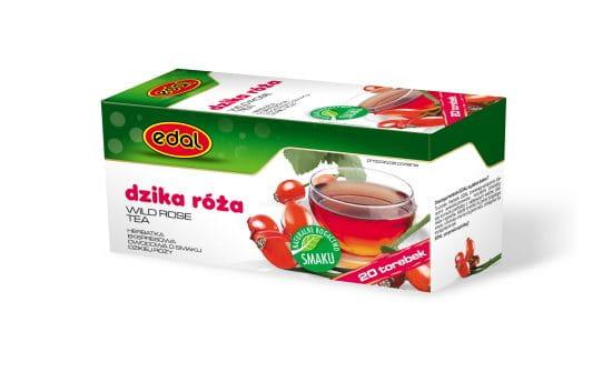 Herbata Owocowa Ekspresowa Dzika Róża 20 torebek Edal