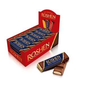 Baton Creme Brulee Milk Chocolate Roshen 30x43g
