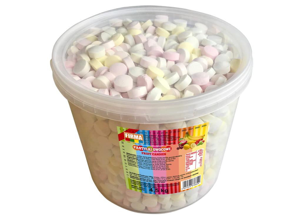 Cukierki Pastyllki Pudrowe Owocowe Łowicz 4,5kg