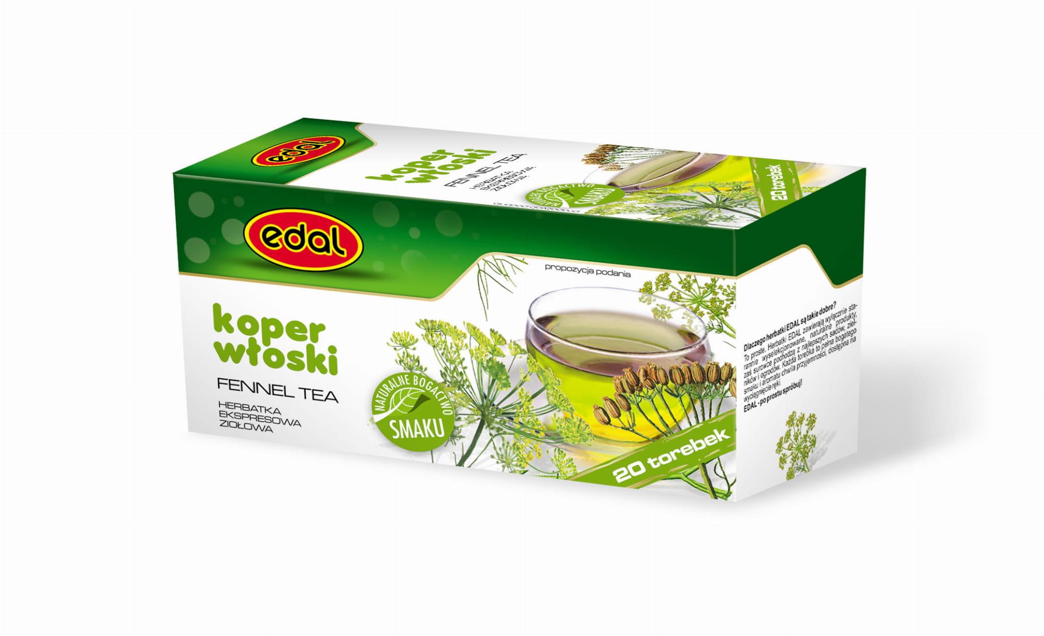 Herbatka ekspresowa ziołowa Koper Włoski 30 g Edal