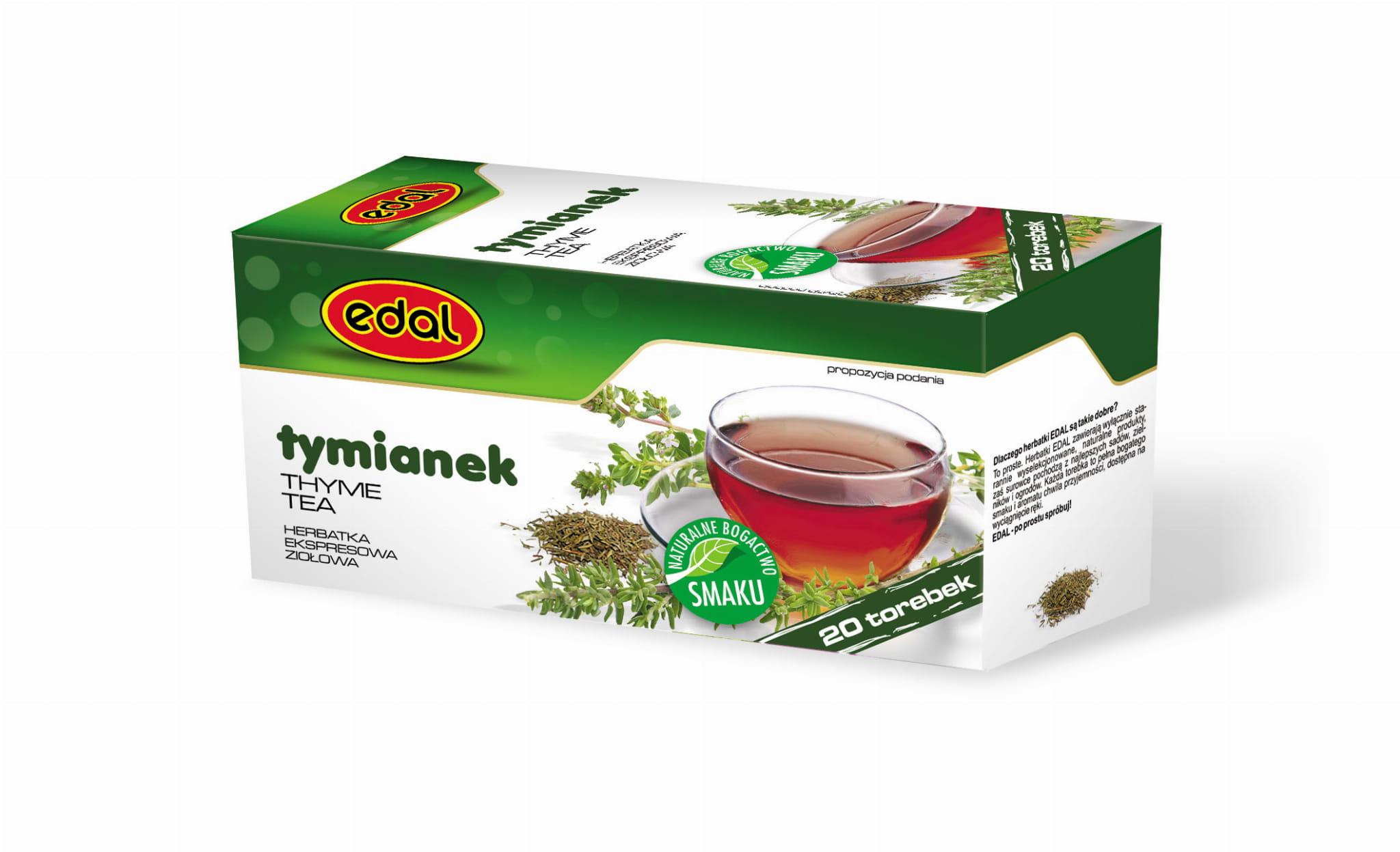 Herbatka ekspresowa ziołowa Tymianek 30 g Edal