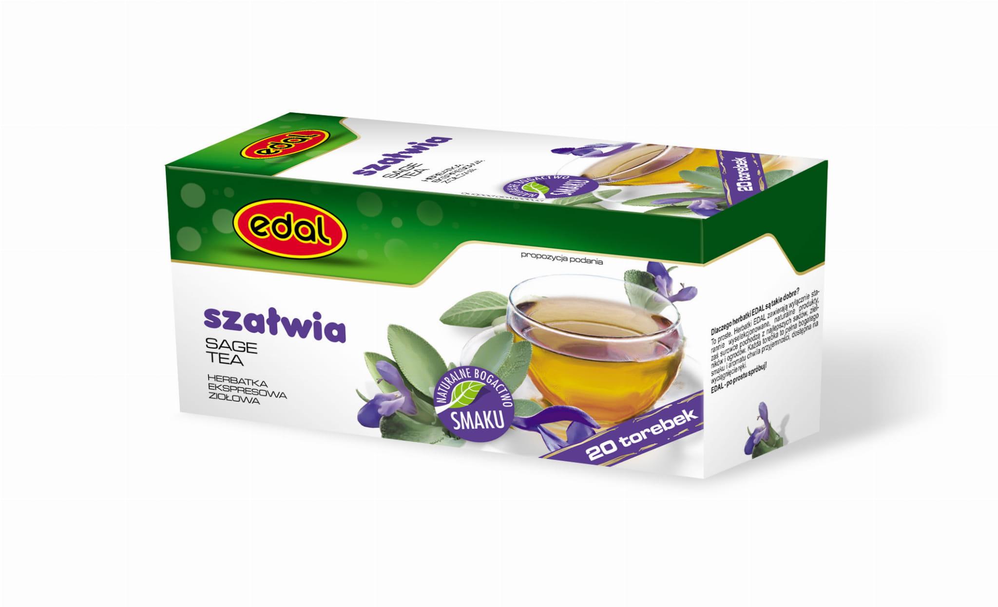 Herbatka ekspresowa ziołowa Szałwia 30 g Edal
