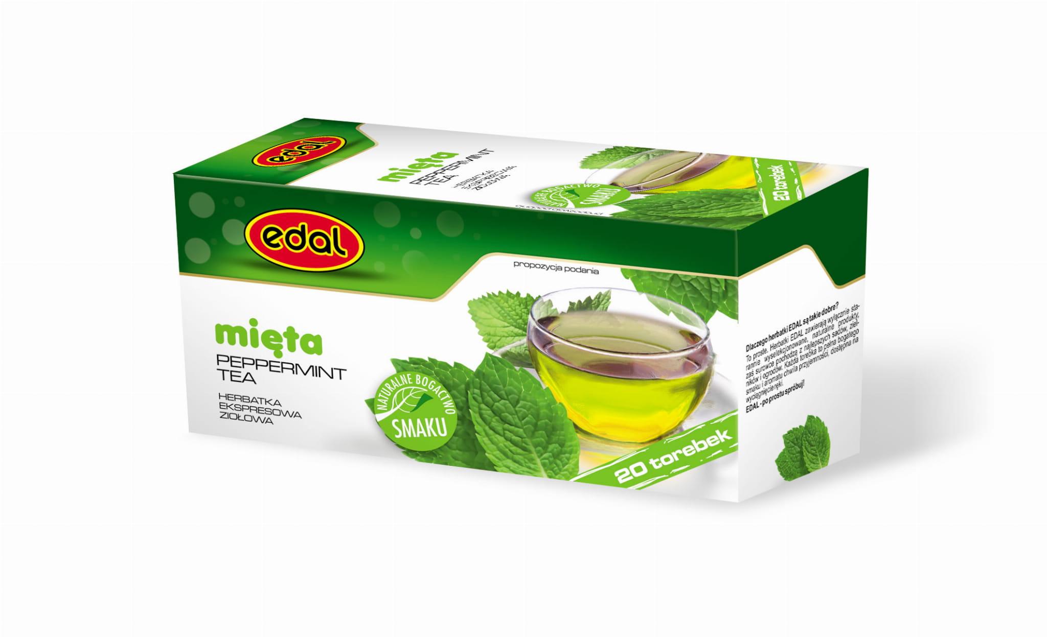 Herbatka ekspresowa ziołowa Mięta 30 g Edal