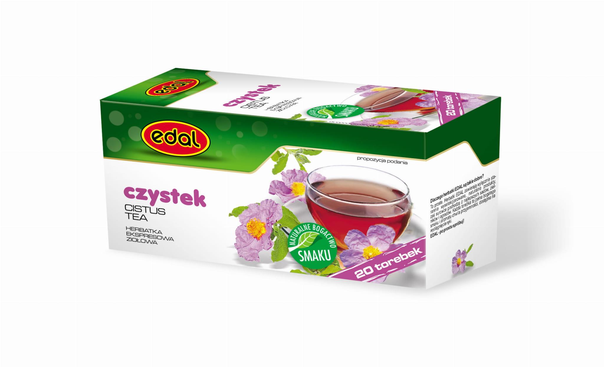 Herbatka ekspresowa ziołowa Czystek 30 g Edal