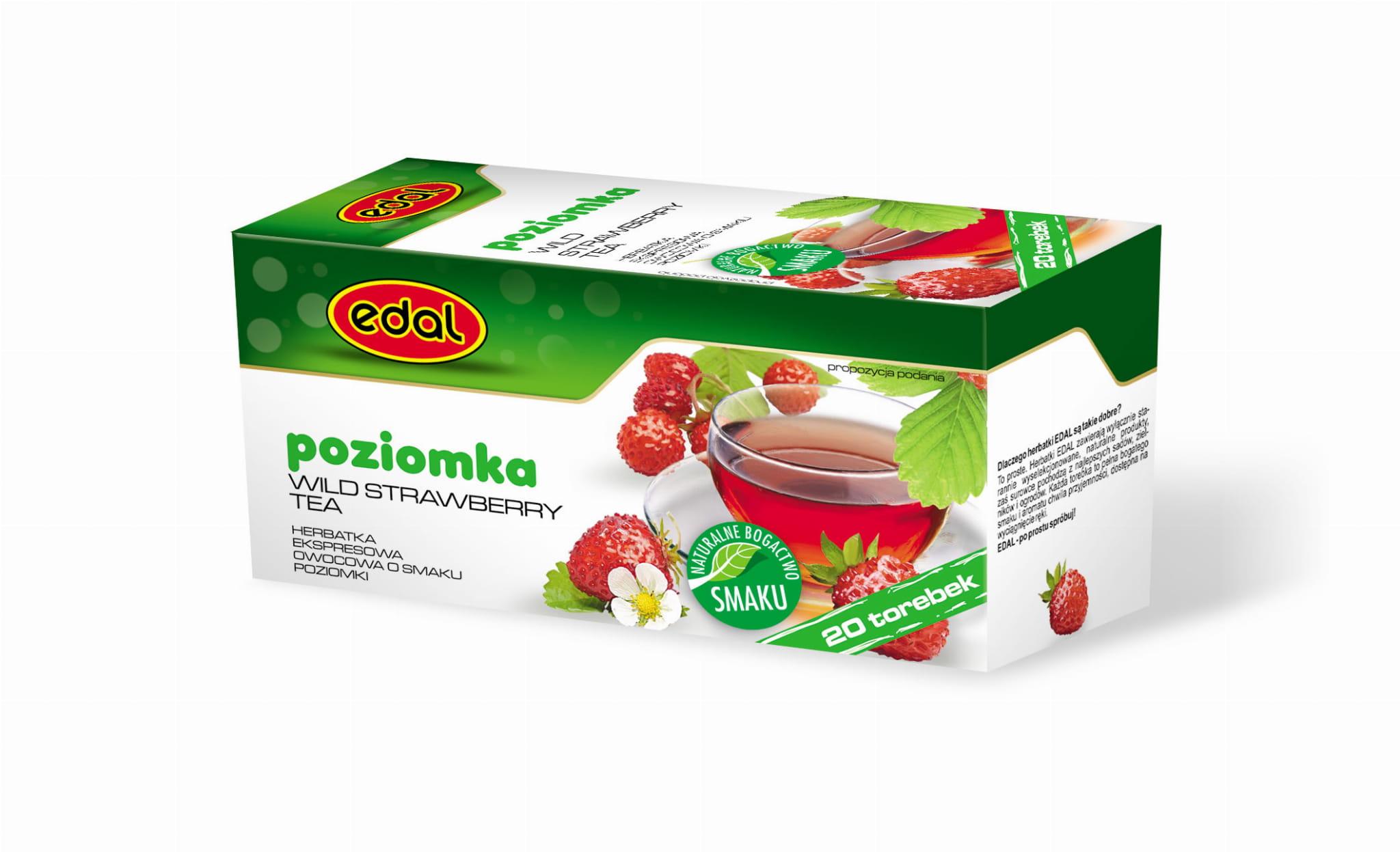 Herbatka ekspresowa owocowa Poziomka 40 g Edal