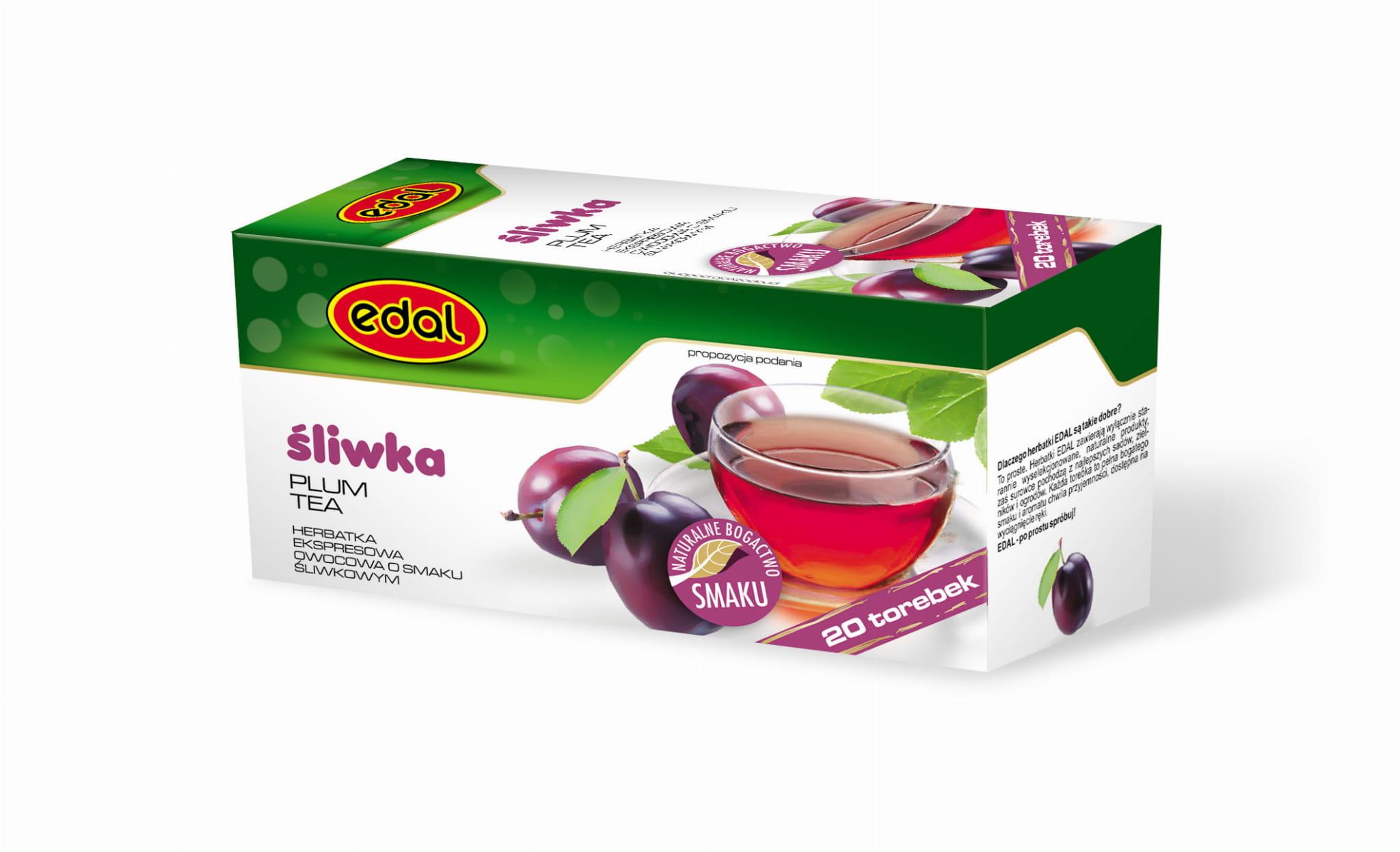 Herbatka ekspresowa owocowa Śliwka 40 g Edal