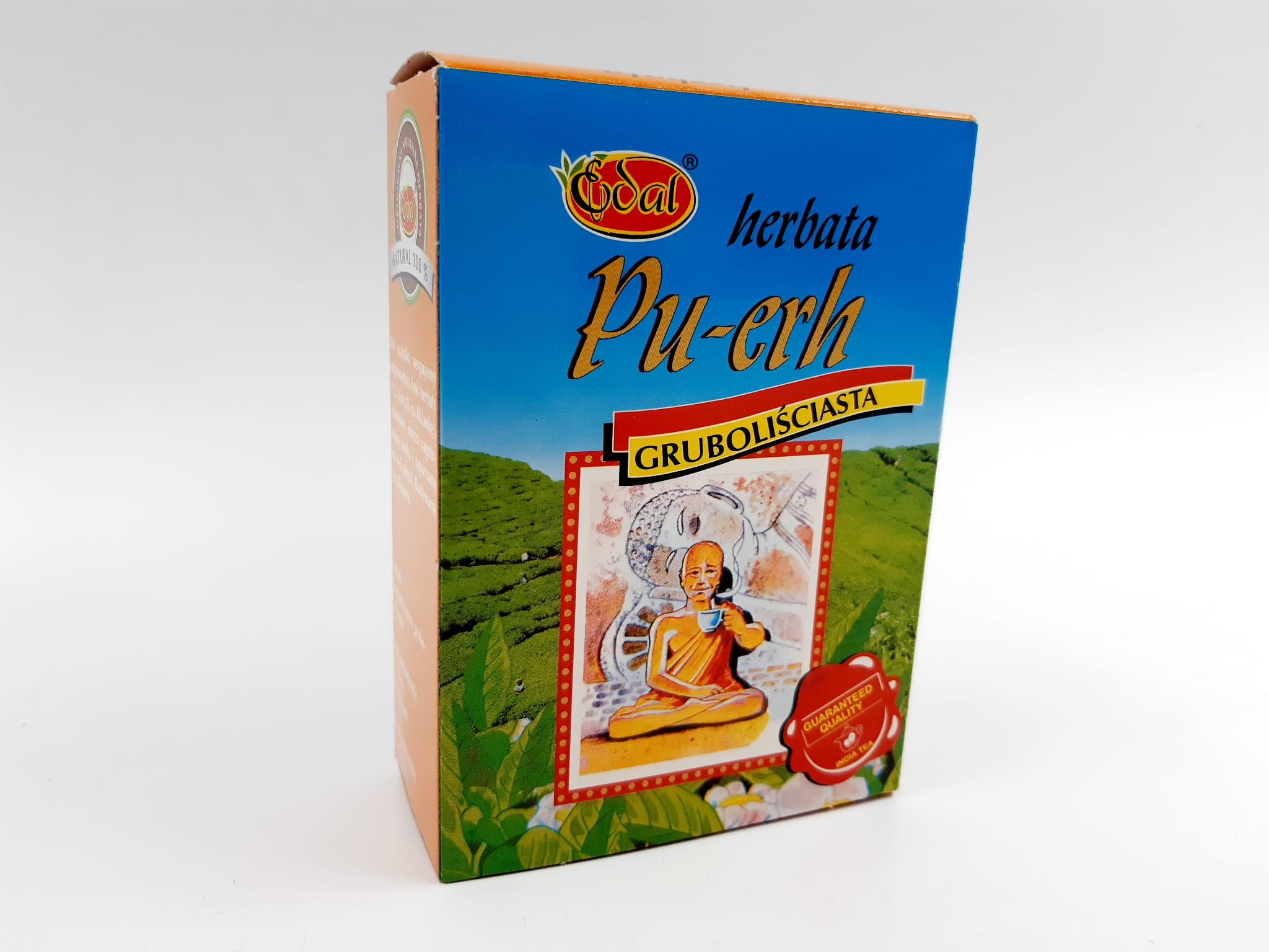 Herbata liściasta Pu-erh gruboliściasta – kartonik 100 g