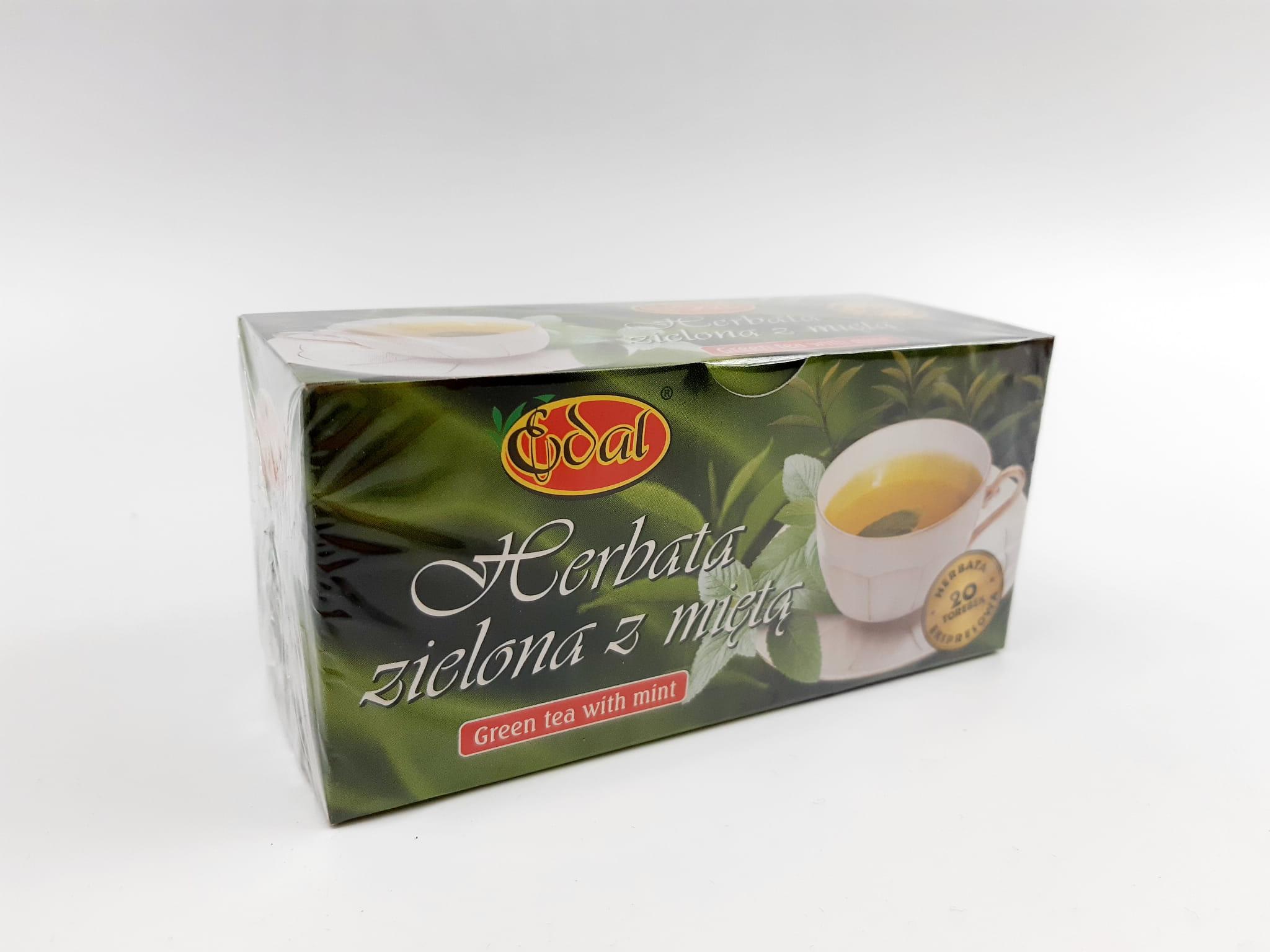 Herbatka ekspresowa ziołowa Zielona z miętą 40 g Edal